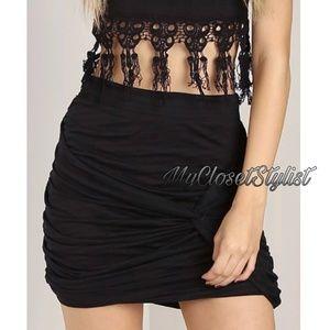 Free People 2DIE4rare Black Mini Sexy Skirt XS NWT